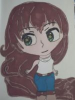 Chibi girl with very long hair by megatiger42
