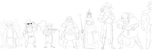 DnD Characters - Livestream Sketches by Blazbaros