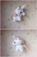 Fluffy amigurumi chibi Unicorn by Ulvkatt