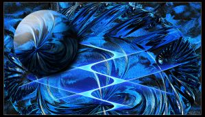 Manip In Blue by Brigitte-Fredensborg