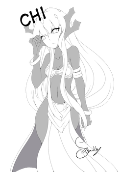 Chi Lineart (Grim tales) by The0ne-u-lost