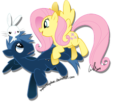 Fluttershy and Star Hunter by SupaCrikeyDave