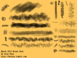 March 2012 Brush Pack by smackfoo