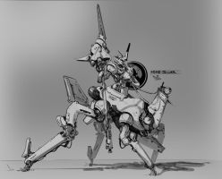Robo Cavalry by suburbbum