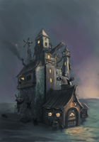 Weird house by ThroughSpaceAndTime