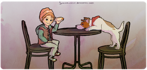 Oliver and Dodger by scribblerian