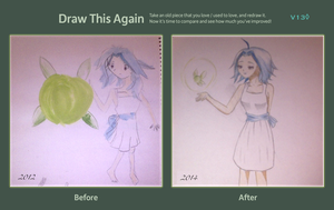 Draw This Again - Girl and Fairy by vaneko13