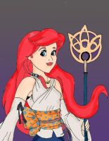 Disney Fantasy Ariel as Yuna by HighwindDesign