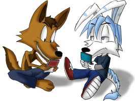 Giovanni And Vee playing games by MrX3000