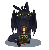 HTTYD: He ated teh fish by Omnomnom-Monster