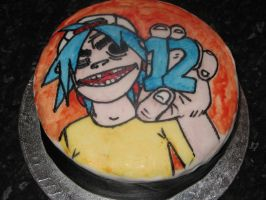 Gorillaz Birthday Cake by Bacon54