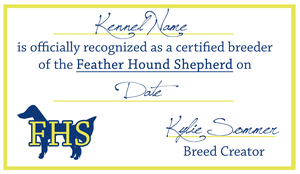 Feather Hound Shepherd Licenses by Sommer-Studios