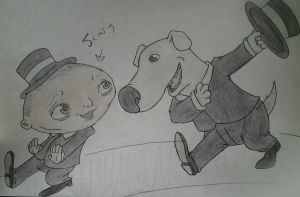 Real Stewie and Brian by Alexanderoony
