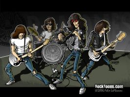 Ramones cartoon by GunsNMotley