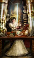 Of Brass and Steam: Librarian by BrookeGillette