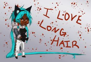 I Love Hair Mascot by Demosthenes75