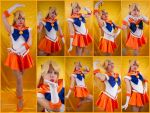 Sailor Venus Crystal Cosplay Collage by AmmieChan