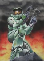 Halo in airbrush by Designed-One