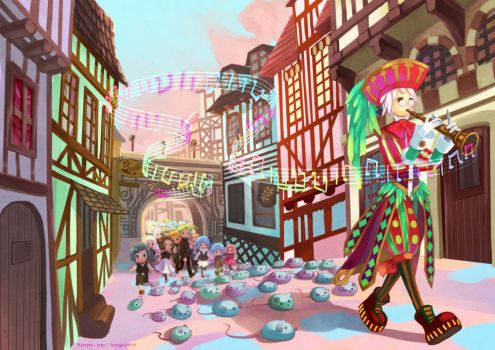 The Pied Piper of Hamelin by Nacrym