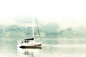 Boat in the mist by vzzzbux