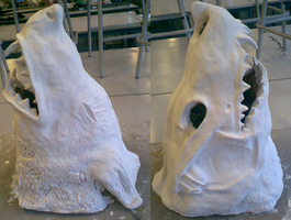 Wolf sculpture- WIP by Dogtorwho