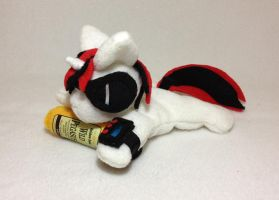 Blackjack beanie plush with sunglasses and bottle by Bewareofkitty