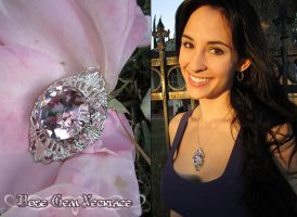 Rose Gem Necklace by Lillyxandra