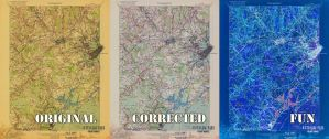 Three Panel USGS Map Example by wetdryvac