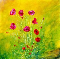 HAPPY POPPIES II by ARTBYTERESA