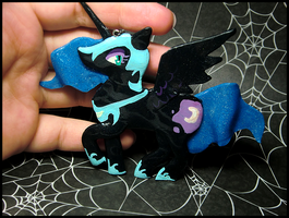 Nightmare Moon Necklace III by GrandmaThunderpants