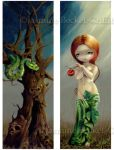 Eve and the Tree of Knowledge by jasminetoad