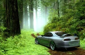 Toyota Supra Bad Composite by ragingpixels