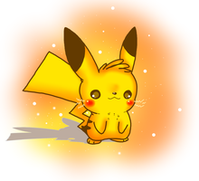 Cute Pikachu by raccooon325