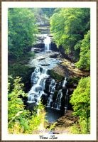 Corra Linn Waterfall by printsILike