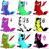 Cheap Wolf Adopts by carlyboo11