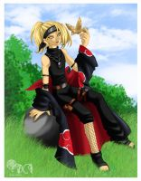 Deidara-chan by dream-whizper