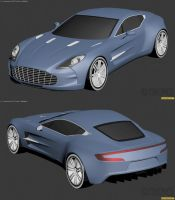 Aston Martin One-77 WIP2 by The-IC