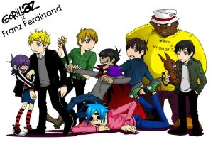 Gorillaz + Franz Ferdinand by metroground