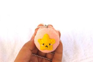 Good Luck Star Macaroon Plush Pendant by PinkChocolate14