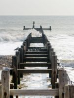 Groyne in the Lowestoft Sea by TheBigDaveC