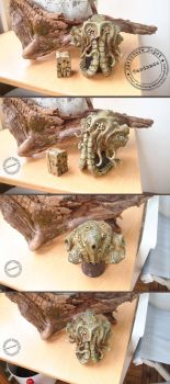 Cthulhu Clay Bust by AdventureDepot