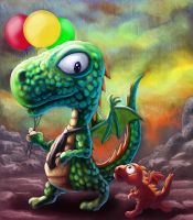 Speed Painting Dragon...... by sai2009