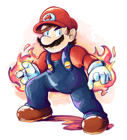 Fired Up Mario by Alex-Wolfy