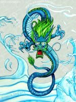 Water Dragon by snazzie-designz
