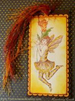 Bee Fairy Handmade Bookmark by enchantedgal