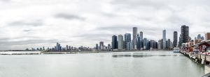 Partial Chicago Skyline - Navy Pier by aheathphoto