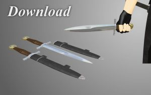 [MMD] Sword-hilt dagger [download] by Wampa842