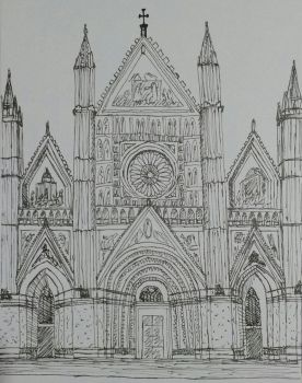 Orvieto Cathedral - sketch by leticiavicentinib