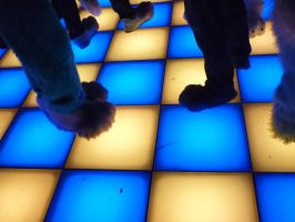 Fursuits and coloured dancefloors by ggeudraco