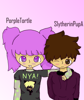 Porpletortle And Slytherinpup by SlytherinPupA